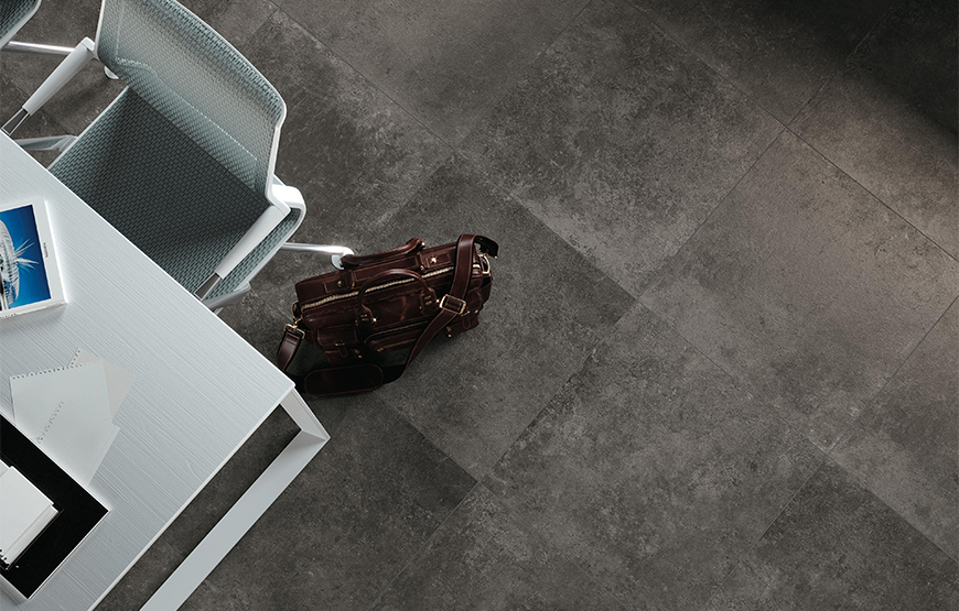 Codec 60x60. Ancient stone effect porcelain tiles for residential and commercial projects.