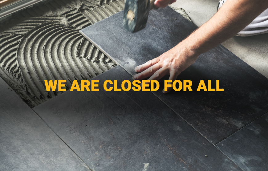 National Tile. We are closed