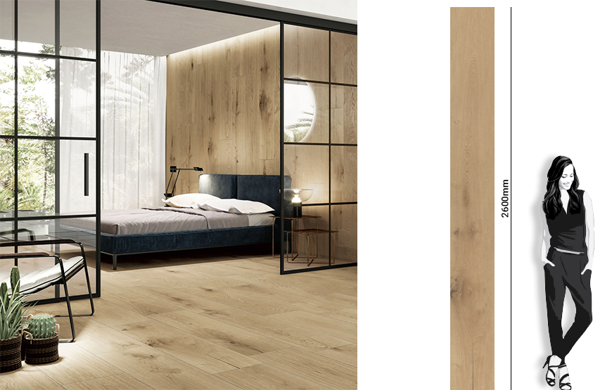 New product. Vermont 30x260. 6mm extra large format wood look porcelain tiles from Cifre Ceramica.