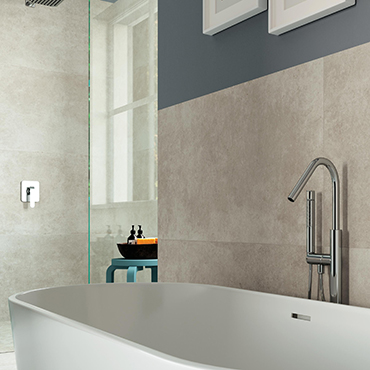 National Tile. Codec 60x60. Ancient stone effect porcelain tiles for bathroom walls and floors.