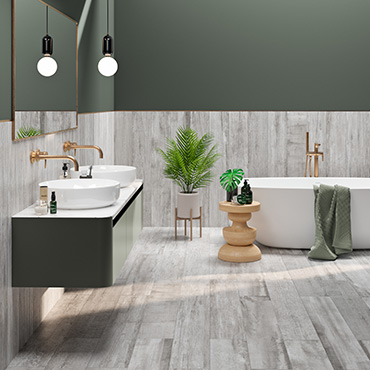 National Tile. Colonial Soft 20x120. Aged wood effect porcelain tiles for bathrooms