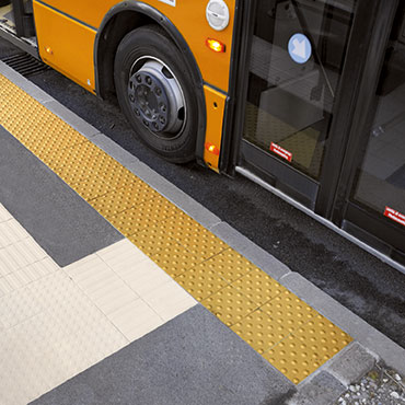 National Tile. Tactile paving tiles for blind and visually impaired people in Ireland.
