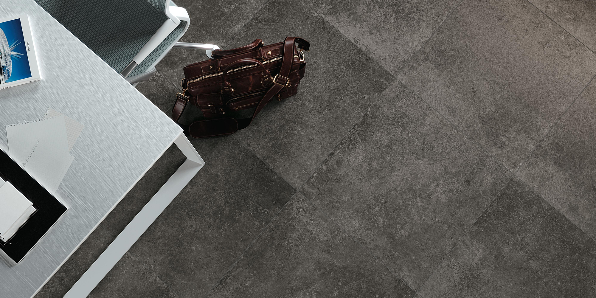 Codec 60x60. Ancient stone effect glazed porcelain tiles for residential and commercial walls and floors.