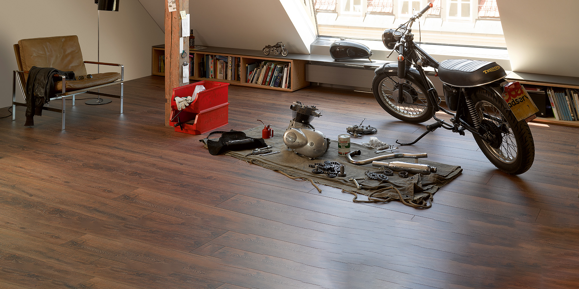 Parador Trendtime 6. 9mm laminate flooring with AC4 rating and class 32.