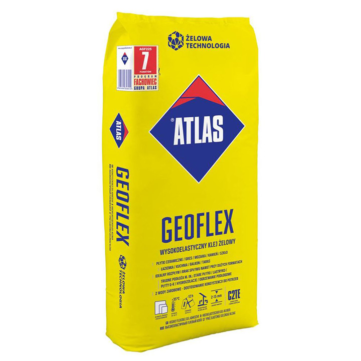 Atlas Geoflex White highly flexible gel adhesive 2-15mm
