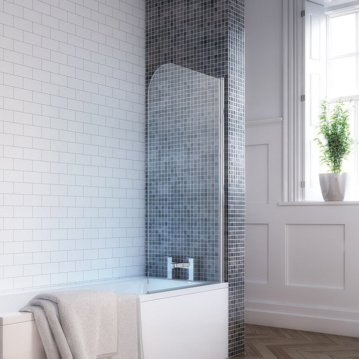 Rounded single bath screen