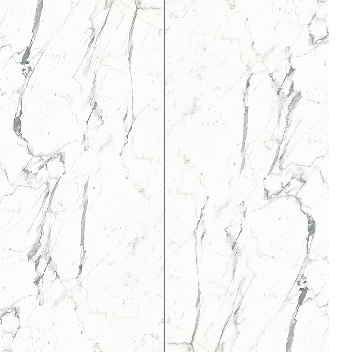 Ceramin Tiles Ireland. Carrara Vained White 1202x2550x3.2mm.
