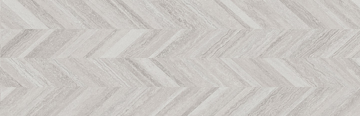 Coliseum Dynasty Grey 31.6x100. Decorative wall tile with Zig-Zag pattern.
