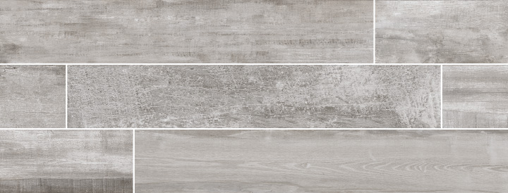 Colonial Shadow Soft 20x120. Extra long plank aged oak wood look porcelain tile with anti-slip rating R10 C.