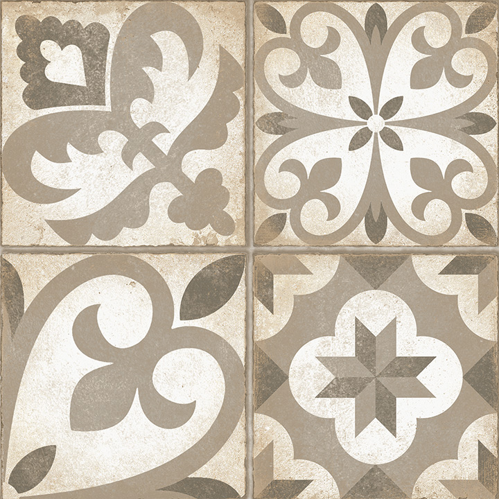 Combi Beige 30x30. Retro style patterned floor tile.