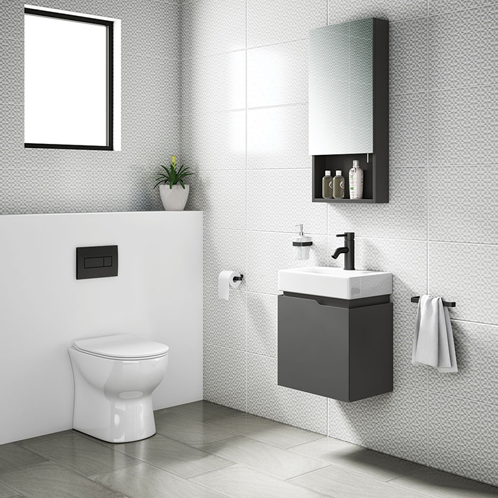 Bathroom furniture collection Quattro wall unit