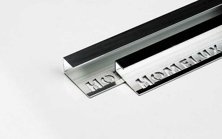 Homelux Ireland tile accessories. Square Edge HX Chrome.