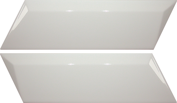 Lloyd Decor White Gloss 5x20. Chevron creative gloss finish decorative wall tiles.