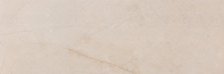 Metissage Decor Crema 33x100. High gloss finish large format stone look decorative bathroom wall tile.