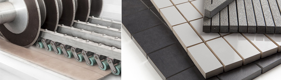 Ceramic and porcelain tiles mosaic cutting and meshing service Ireland.