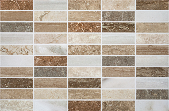 MR Rialto Beige 25x38. Marble look mosaic effect budget decorative wall tile.