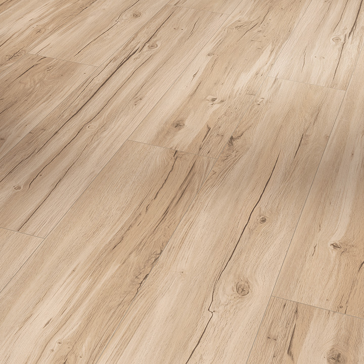 Parador Basic 5.3 Memory Sanded Oak 1209x225x5.3mm. Wood effect vinyl flooring.