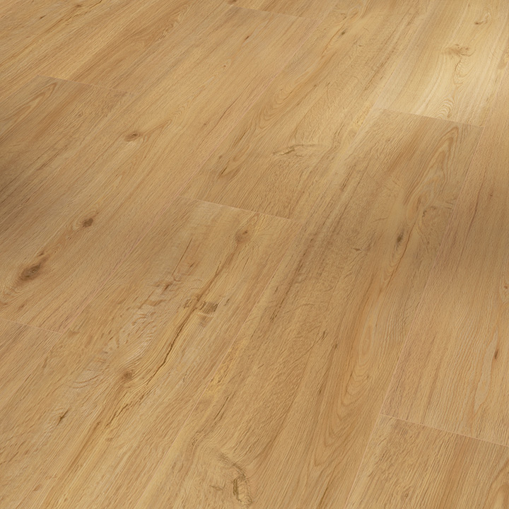 Parador Basic 5.3 Natural Brushed Oak 1209x225x5.3mm. Wood effect vinyl flooring.