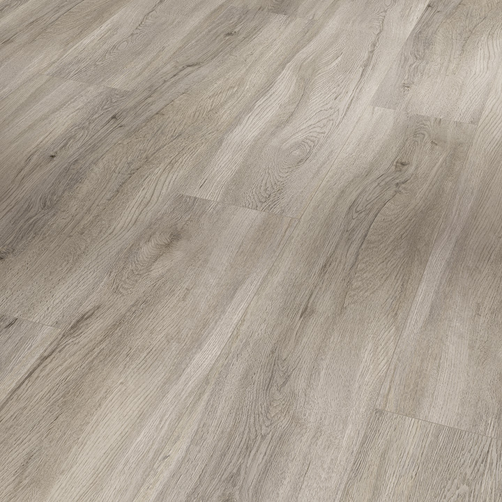 Parador Basic 5.3 Pastel Grey Oak 1209x225x5.3mm. Wood effect vinyl flooring.