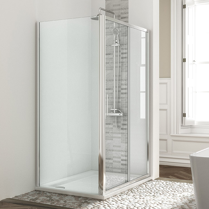 Shower enclosure - Sliding door with side panel