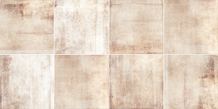 Sospiro Bind Taupe 20x20. Shaded porcelain tiles.