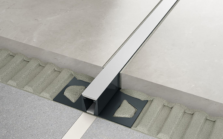 Schluter Systems in Ireland tile accessories. Dilex BWB movement joint profile.