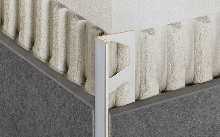 Schluter Systems in Ireland tile accessories. Jolly wall tile edge protection profile.