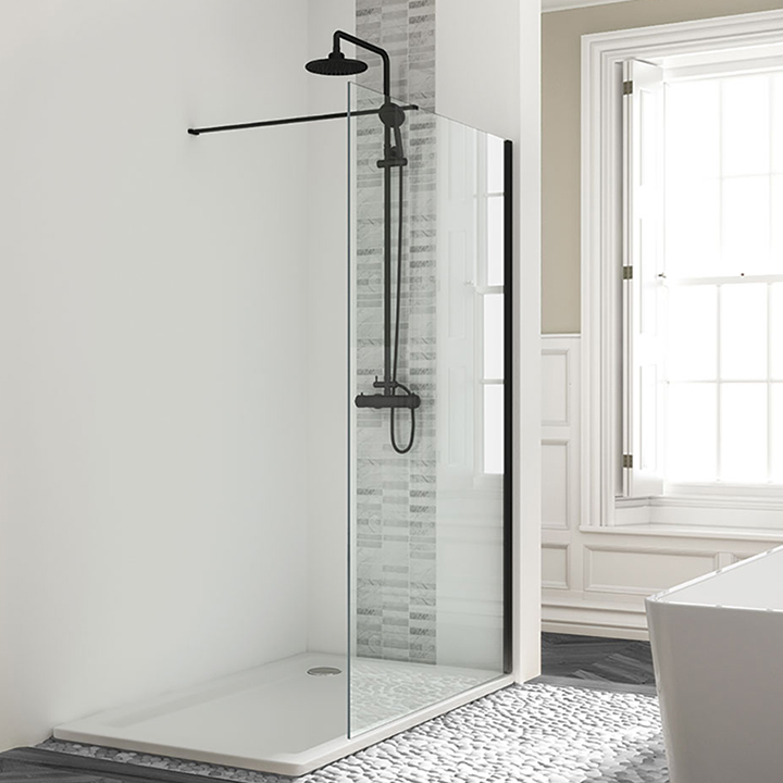 Wetroom panels black