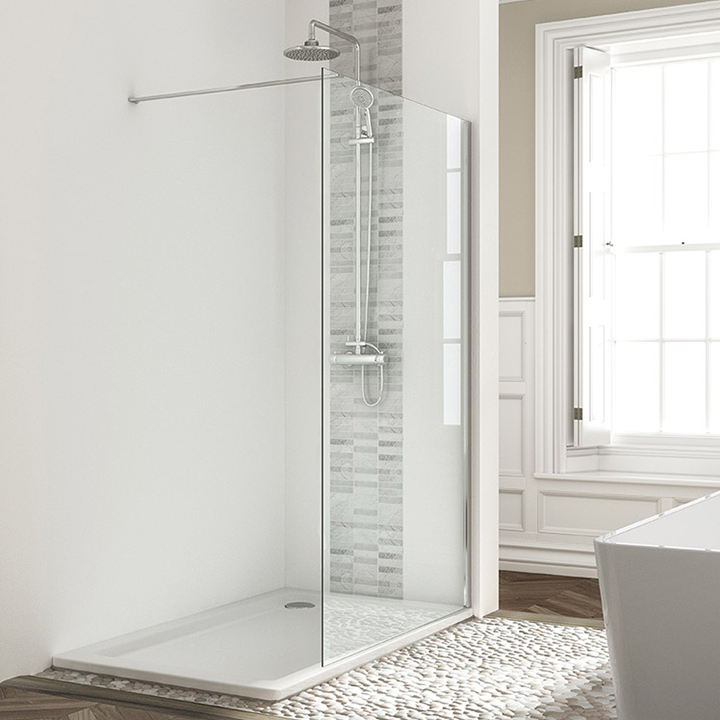Wetroom panels chrome