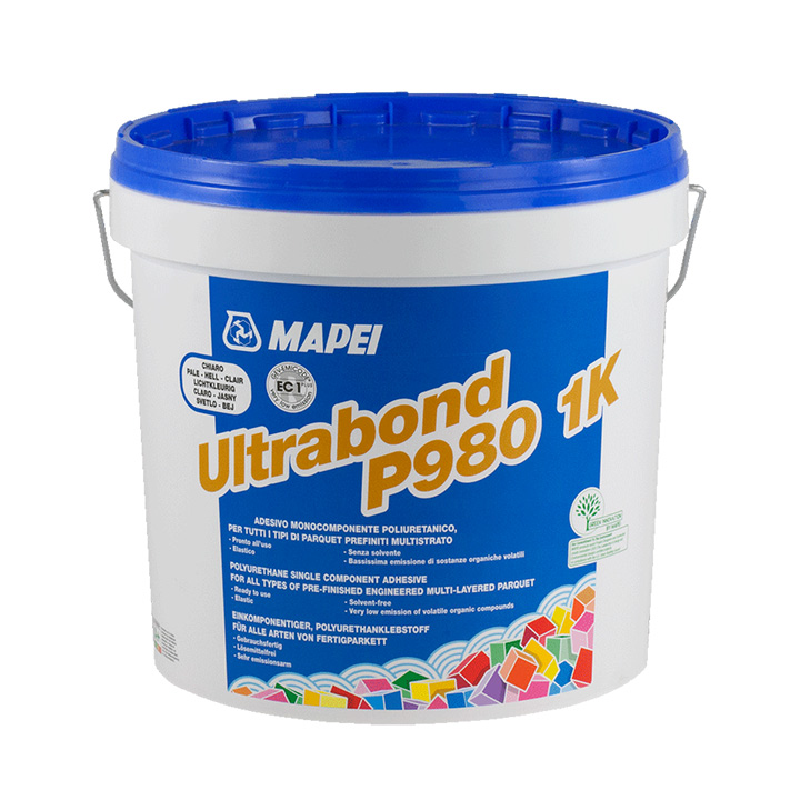 Mapei Ireland wood flooring fixing solutions. Mapei Ultrabond P980.