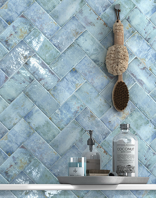 Anjo 7x14. Coloured handmade effect wall tiles. View collection.
