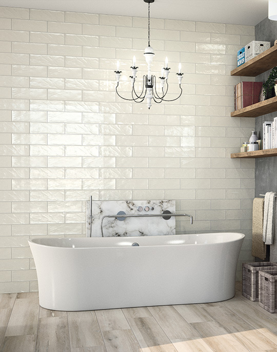 Bulevar 10x30. Vintage style high gloss wall tiles. View collection.