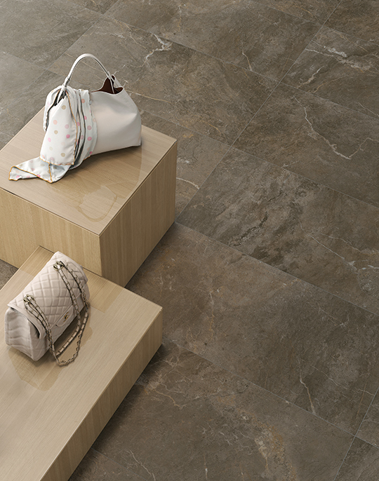 Cave 45x90. Natural stone look porcelain tiles suitable for wall and floor applications. View collection.