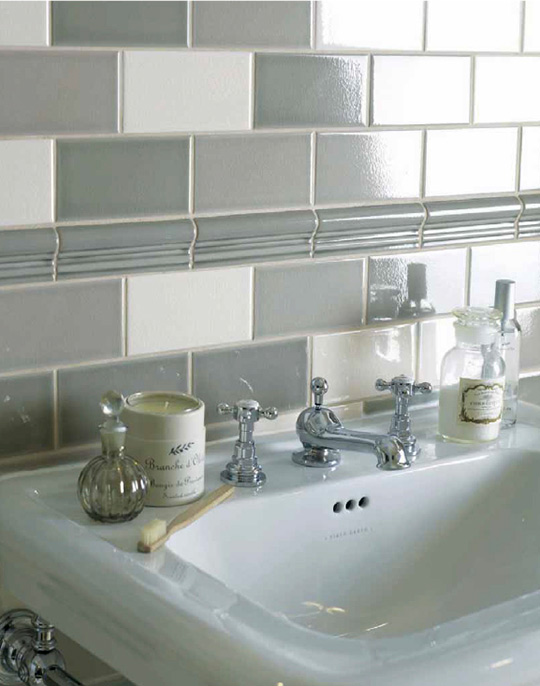 Metro 7.5x15. Subway style high gloss crackle glaze wall tiles. View collection.