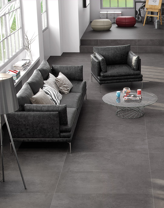 Neutra. Concrete effect porcelain tiles. View collection.